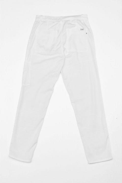 CLOVER-RAM PANTS, WHITE