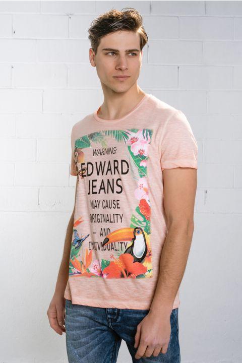 Warning T-Shirt, SEASHELL PINK
