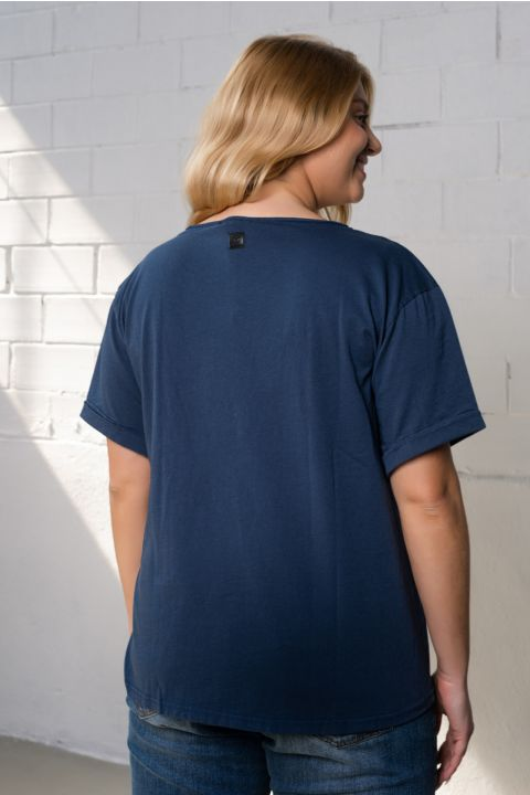 ARIEL T-SHIRT, NAVY BLUE