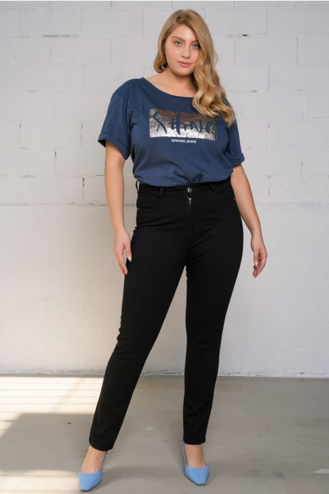 BIANA-PS29 JEANS, BLACK