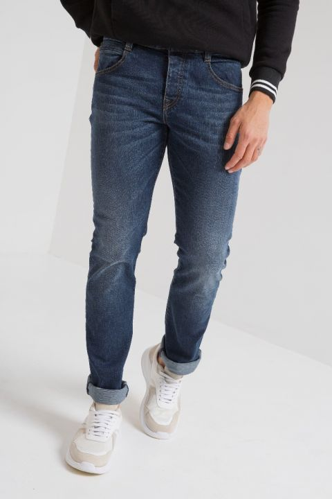 NUREN-DBL JEANS, DARK BLUE DENIM