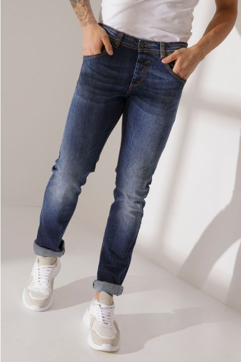 DU.DANI-W20 JEANS, MEDIUM BLUE DENIM