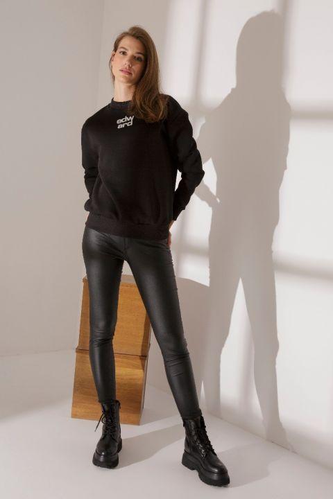RAYNA SWEATSHIRT, BLACK