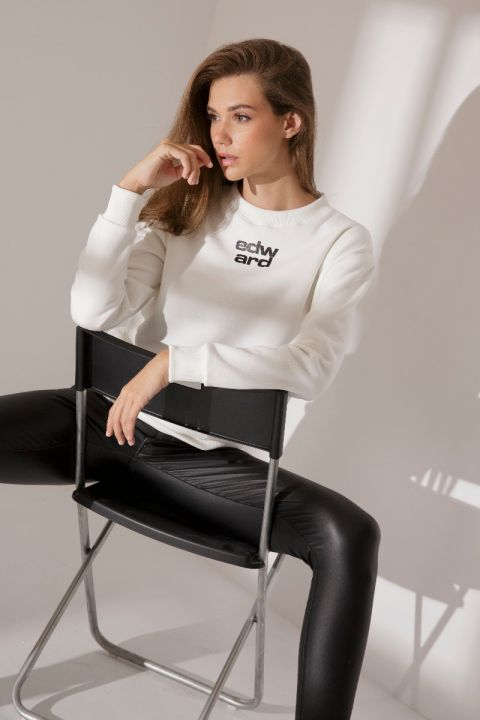 RAYNA SWEATSHIRT, OFF WHITE