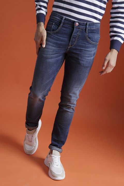 ARCHER-W20 JEANS, DARK BLUE DENIM