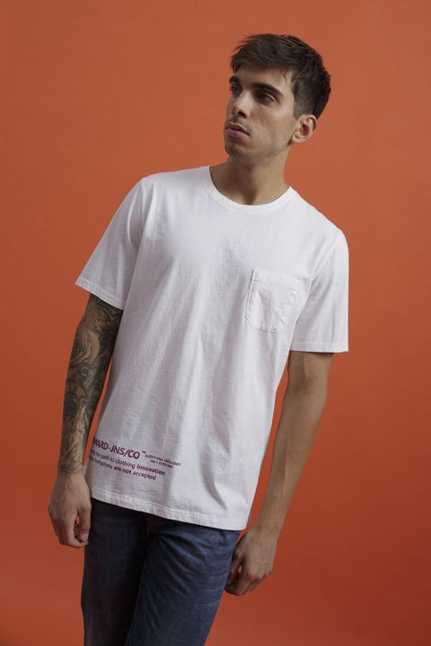 KENED T-SHIRT, OFF WHITE