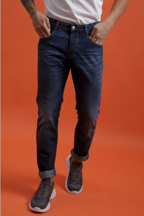CARLOW-W20 JEANS, DARK BLUE DENIM