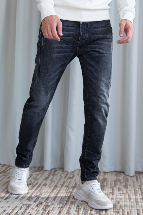 HAREL-16U JEANS, DARK GREY DENIM
