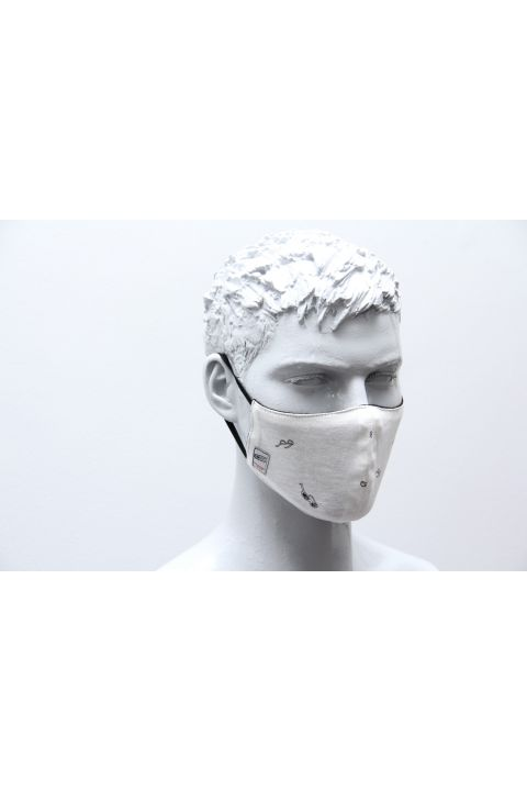 FORMED PROTECTION MASK, OFF WHITE