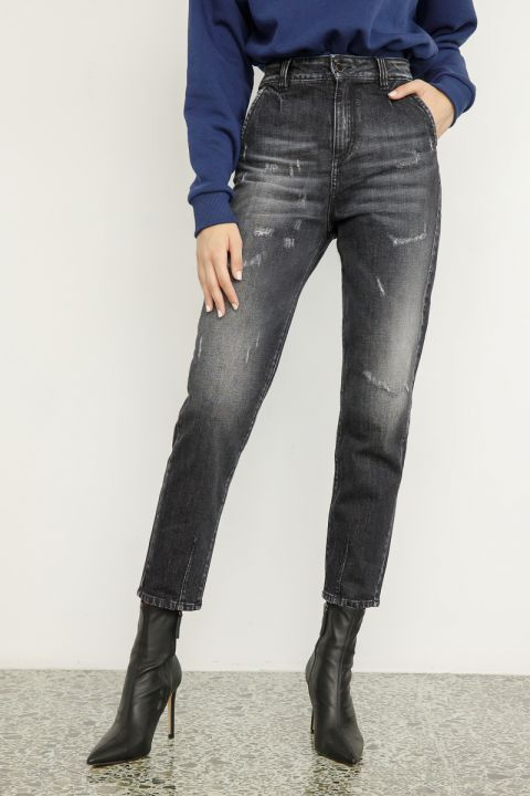 IVANKA-72U JEANS, MEDIUM GRAY DENIM