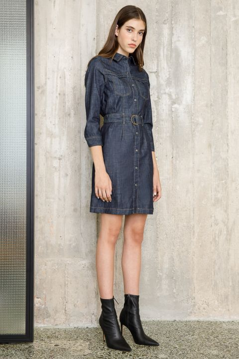 BERITA  DENIM DRESS, RINSE