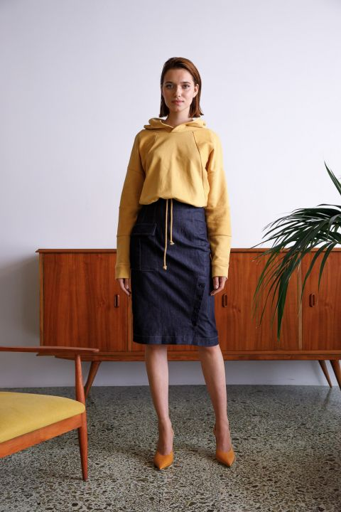 MAILEY SWEATSHIRT, OCHRE