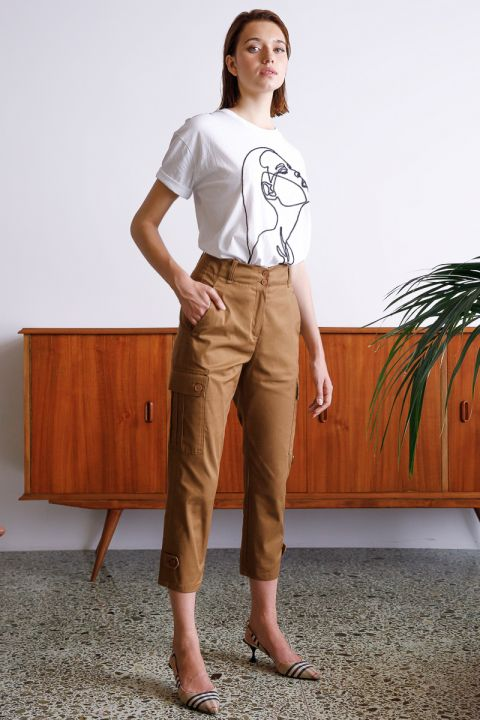 DELL-MT PANTS, ALMOND