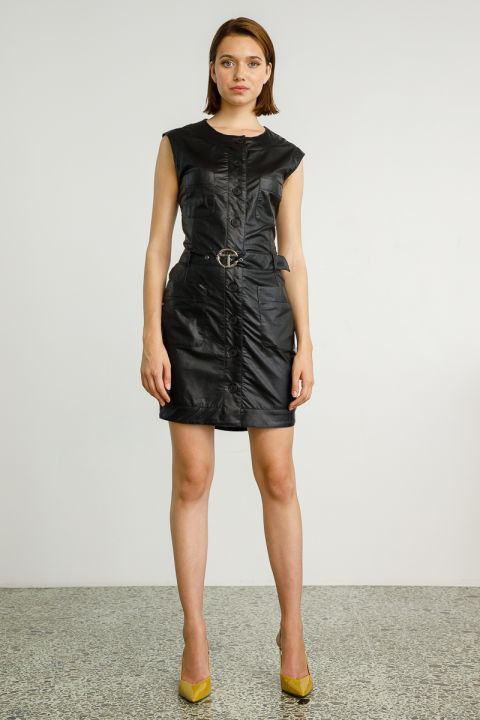 CATLIN DRESS, BLACK