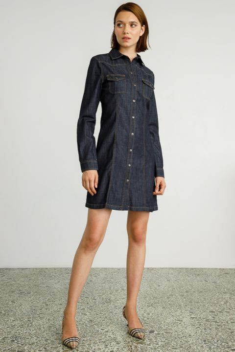 BEKA  DENIM DRESS, RINSE