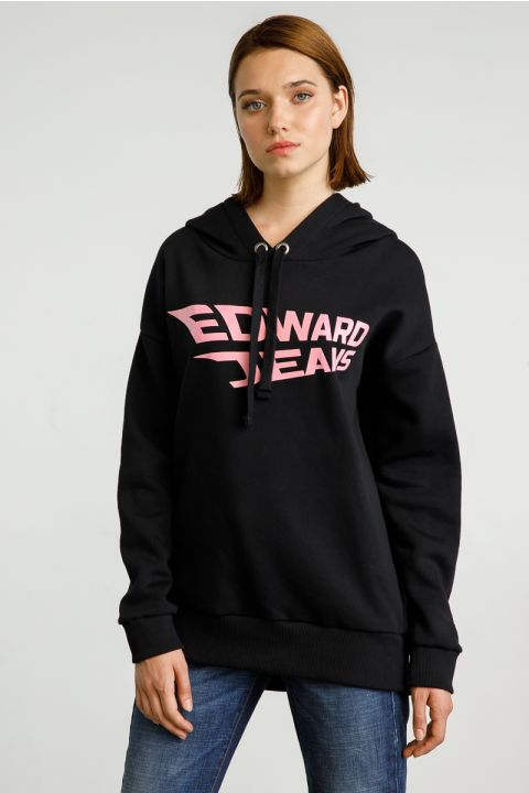 RAQUEL HOODED SWEATSHIRT, BLACK