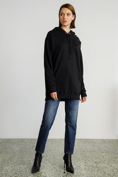 FINLEY HOODED SWEATSHIRT, BLACK
