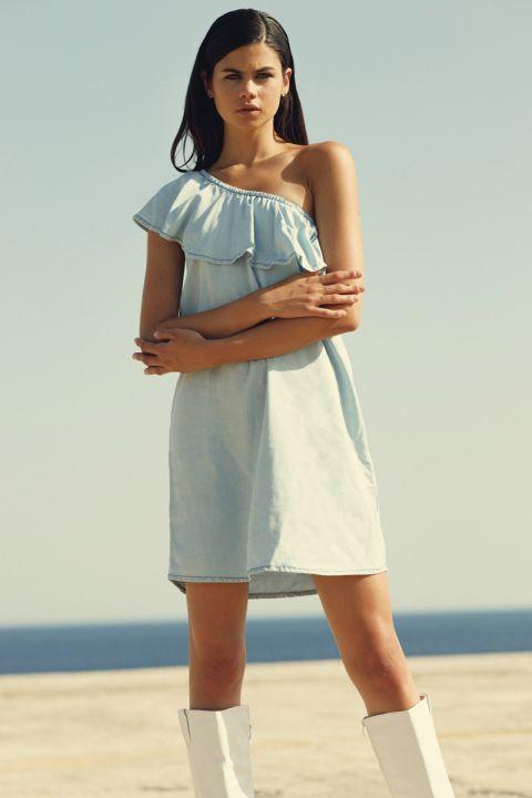 Jalila-T Dress, LIGHT BLUE DENIM