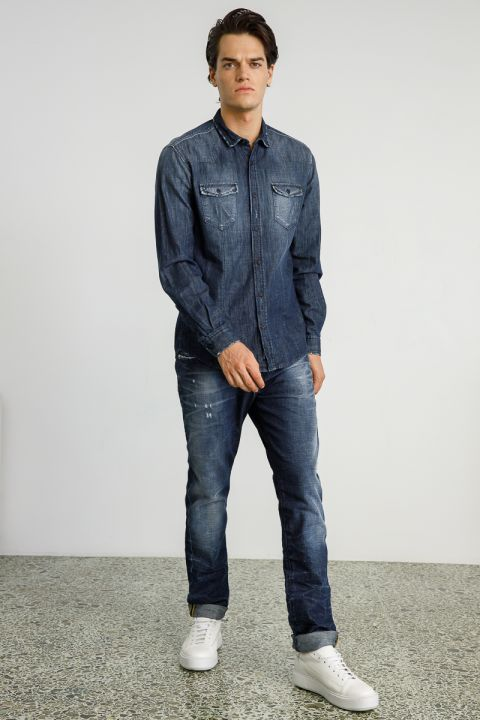 MARCIN-RO JEANS, DARK BLUE DENIM