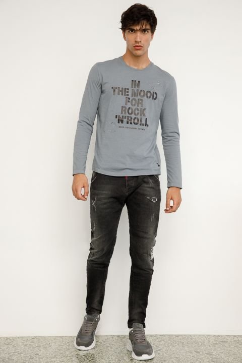 DU.TESLIN-OLB JEANS, DARK GREY DENIM