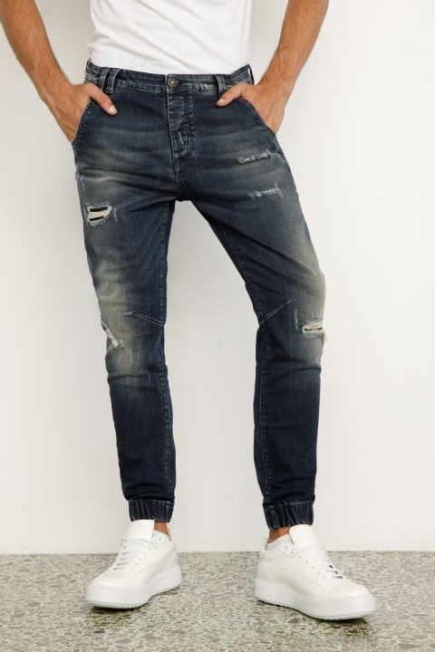 DU.RAMIN-OL JEANS, DARK BLUE DENIM