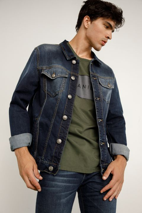 WICK-987 DENIM JACKET, BLUE