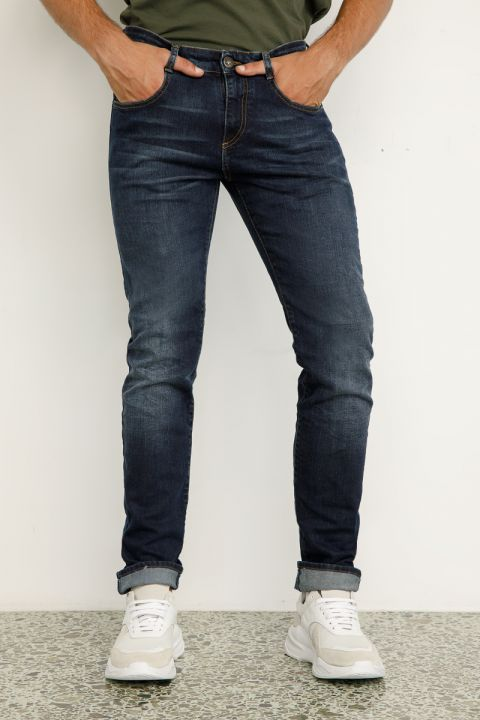 DU.SANTOS-W20 JEANS, DARK BLUE DENIM