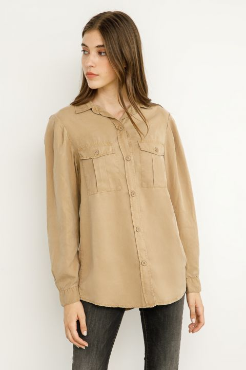 BENTLEY SHIRT, ALMOND