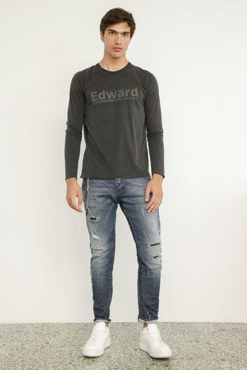 Draven-Jap Jeans, MEDIUM BLUE DENIM