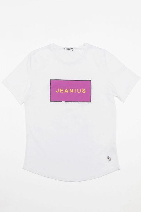 JEANER TSHIRT, WHITE