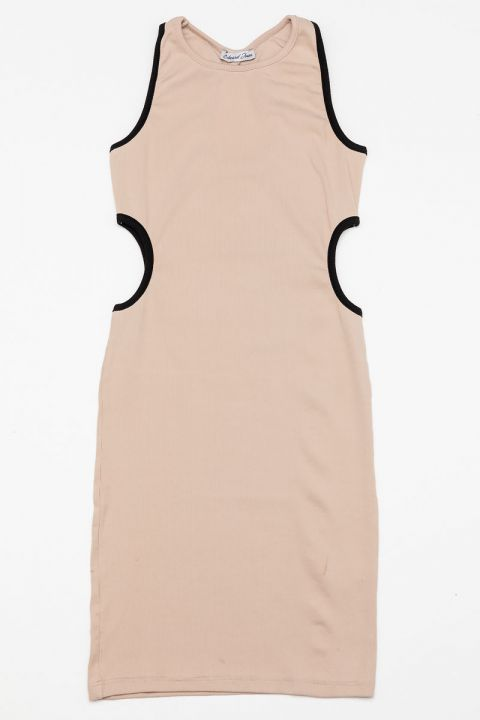 MARLEE-1815 DRESS, BEIGE