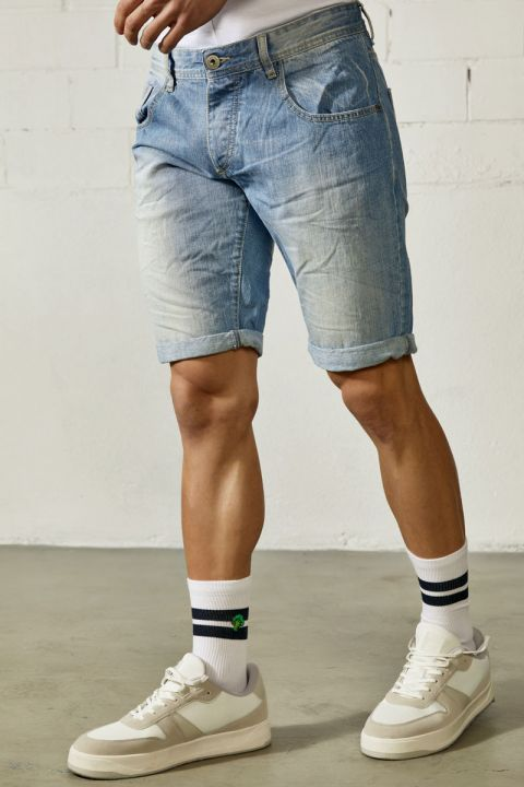 DU.MATIAS-S21/01 DENIM SHORTS, LIGHT BLUE DENIM
