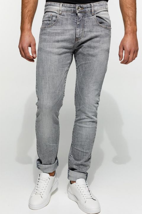DU.SANTOS-S21B JEANS, LIGHT GRAY DENIM