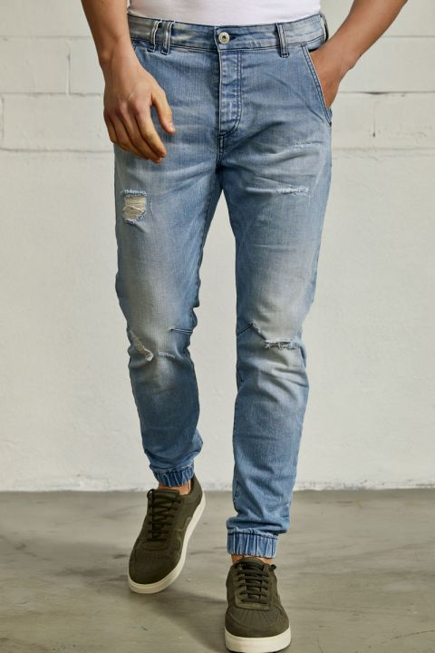 DU.RAMIN-S21 JEANS, LIGHT BLUE DENIM