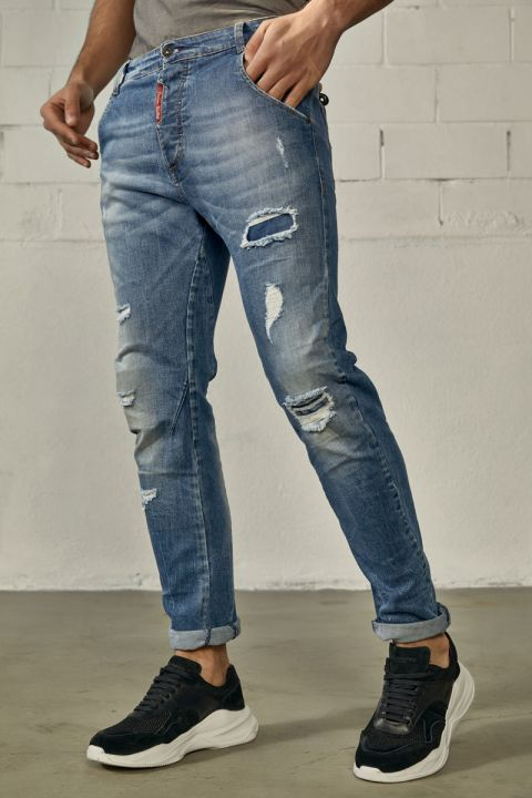 DU.TESLIN-S21D JEANS, MEDIUM BLUE DENIM