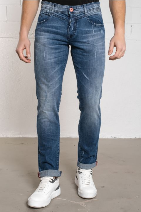 MORTY-OL JEANS, MEDIUM BLUE DENIM