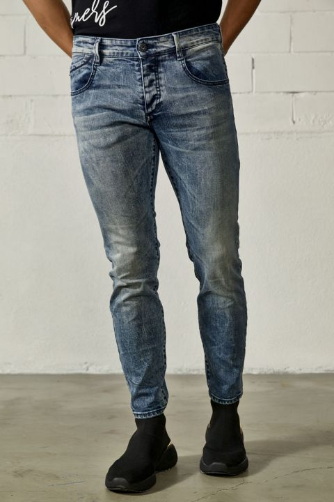 TERRELL-OL JEANS, LIGHT BLUE DENIM