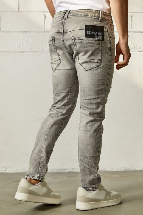 STELLAN-EG JEANS, LIGHT GRAY DENIM