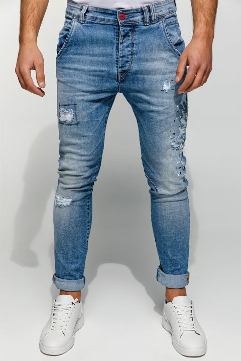 HARLOW-DS JEANS, LIGHT BLUE DENIM