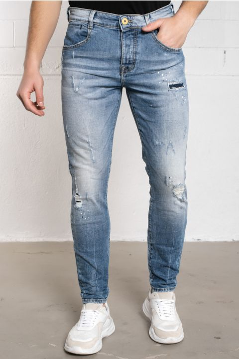 BRICEN-RED SP JEANS, LIGHT BLUE DENIM