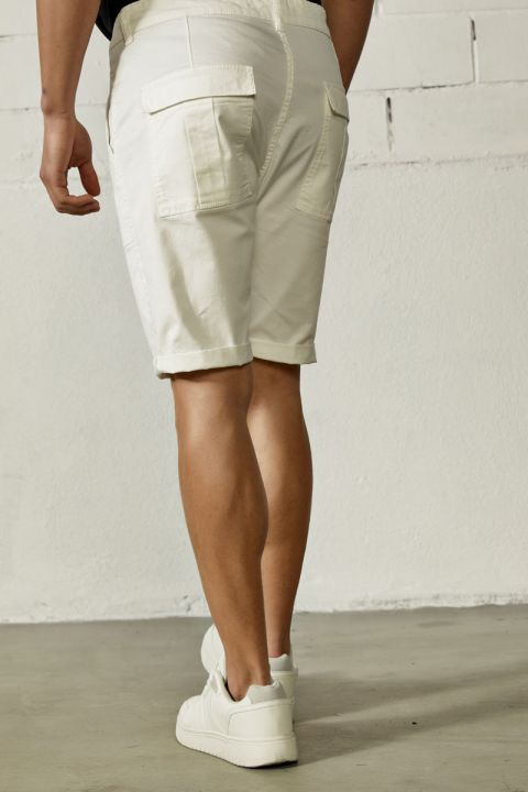 NIDAL-SAN SHORTS, WHITE