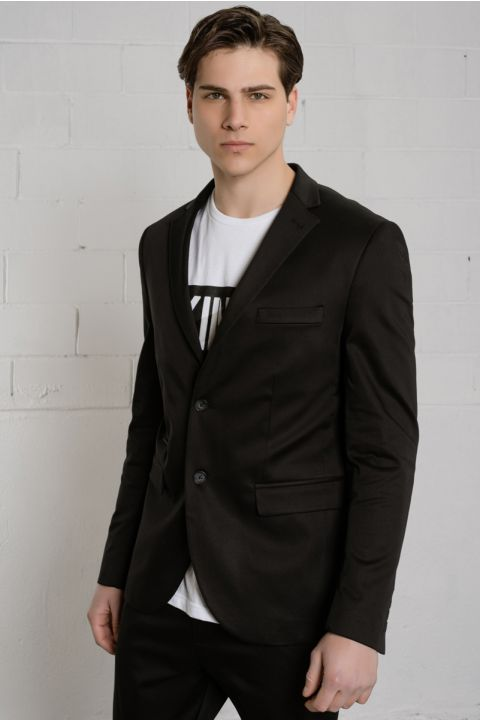 CAULK-C BLAZER, BLACK