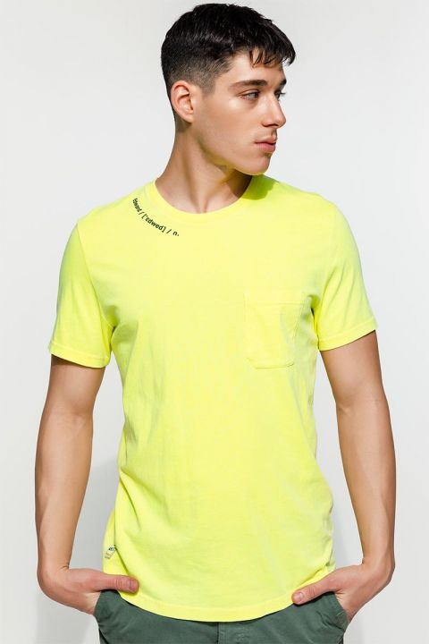 FLUMY TSHIRT, FLUO YELLOW
