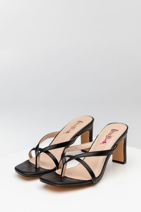 VB-23122 HIGH HEEL SANDALS, BLACK