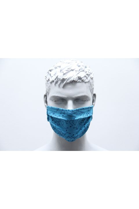 PLEATED PROTECTION MASK, SKY