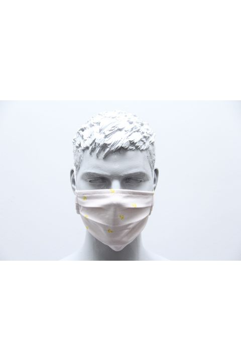 PLEATED PROTECTION MASK, OFF WHITE
