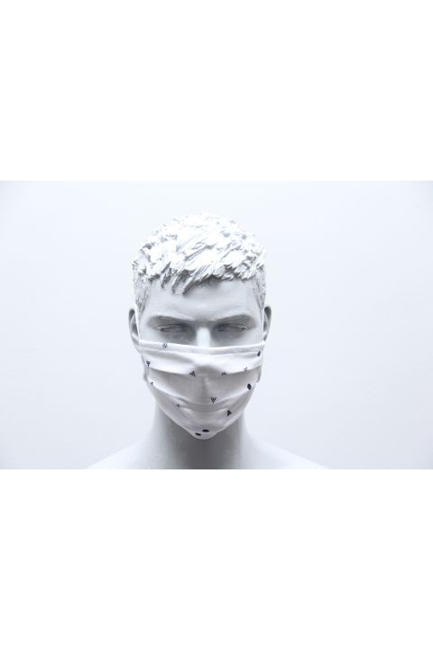 PLEATED PROTECTION MASK, WHITE
