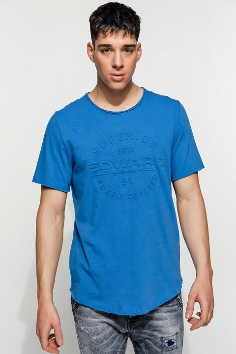 TORN TSHIRT, BLUE