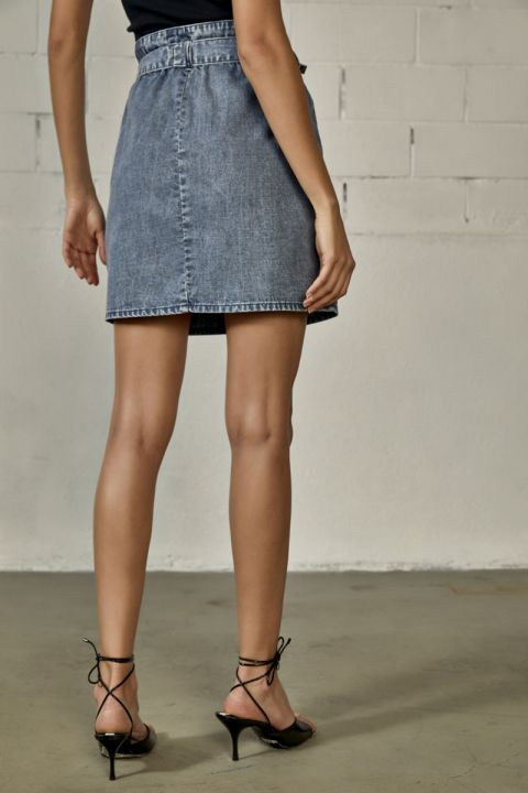 Chanton Skirt, MEDIUM BLUE DENIM
