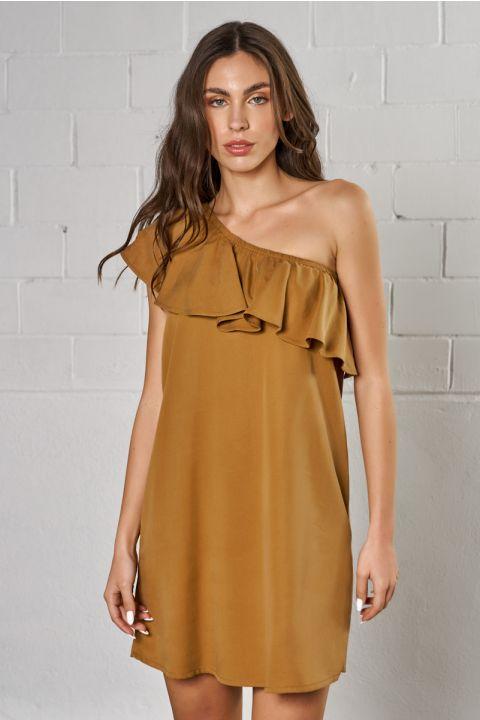 JALILA  DRESS, ALMOND